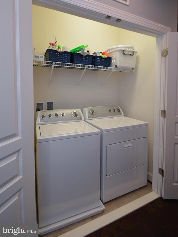 Laundry closet upstairs on Bedroom Level - 10706 CAMERON GLEN DR, FAIRFAX