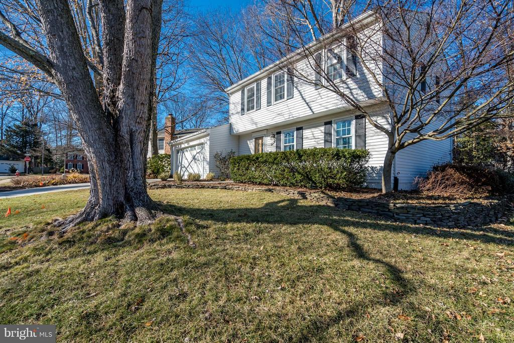 Front Yard with Mature Trees - 9304 BURNETTA DR, FAIRFAX
