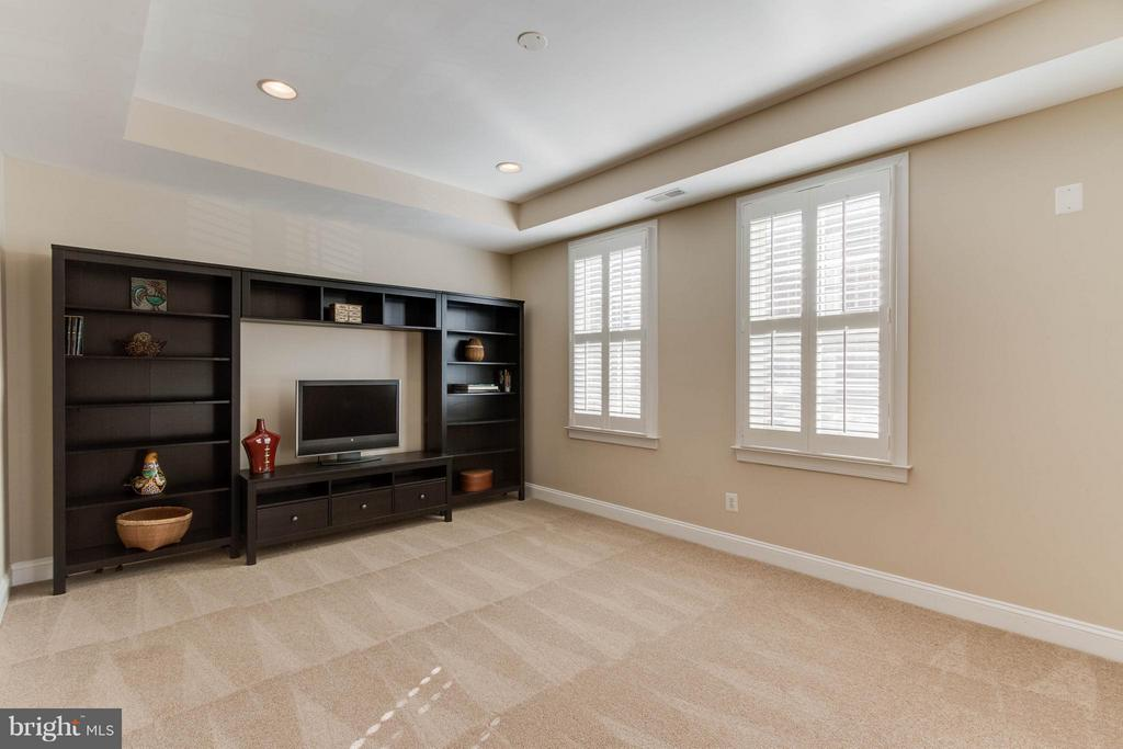 Lower level with entertainment center - 131 FORTNIGHTLY BLVD, HERNDON
