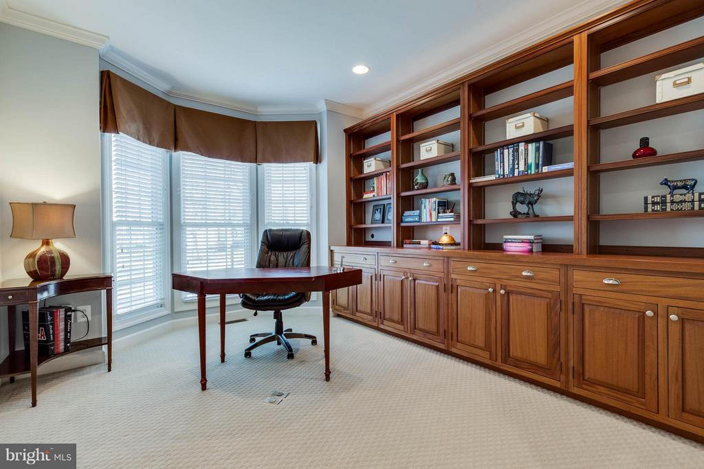 Office with Built-in Mahagony Shelves - 22752 PORTICO PL, ASHBURN