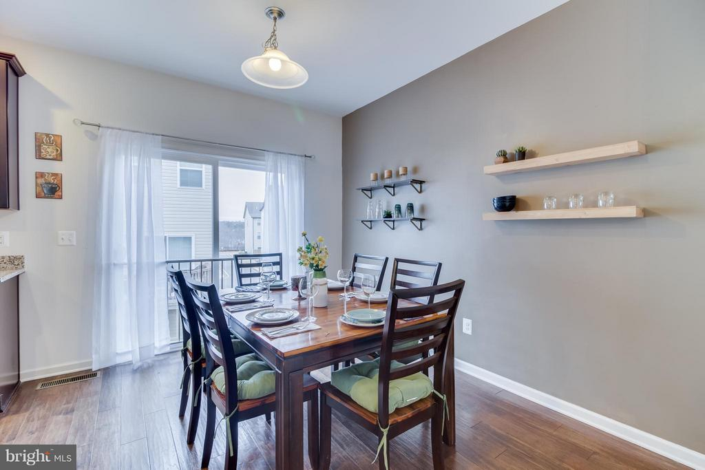 Dining Room Opens to Large Deck - 107 FOUNDRY LN, STAFFORD