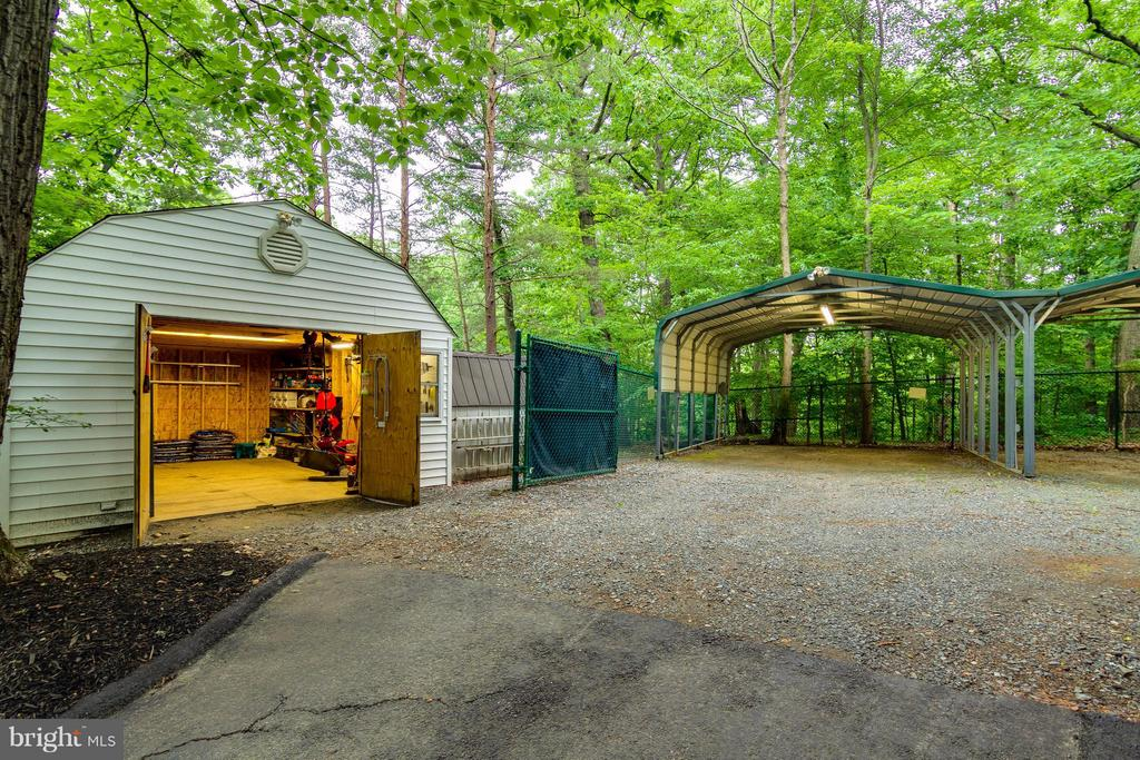One of the three storage sheds and three carports - 18348 SHARON RD, TRIANGLE
