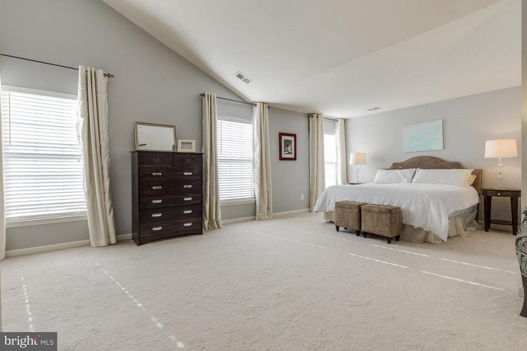 Huge master bedroom with large windows - 419 RUSERT DR SE, LEESBURG