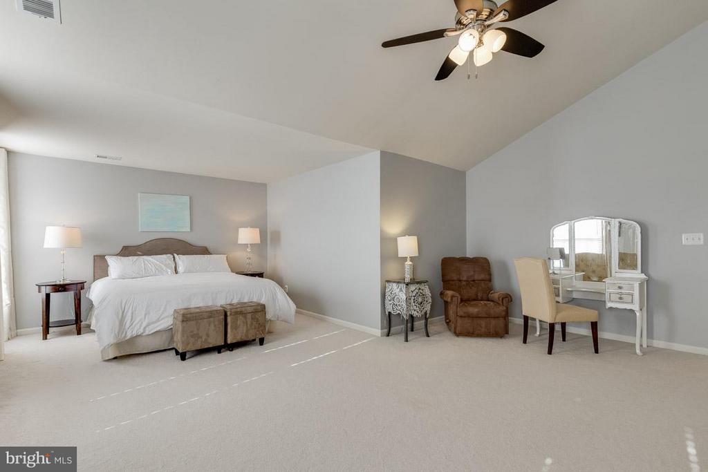 Master bedroom includes space for sitting area - 419 RUSERT DR SE, LEESBURG