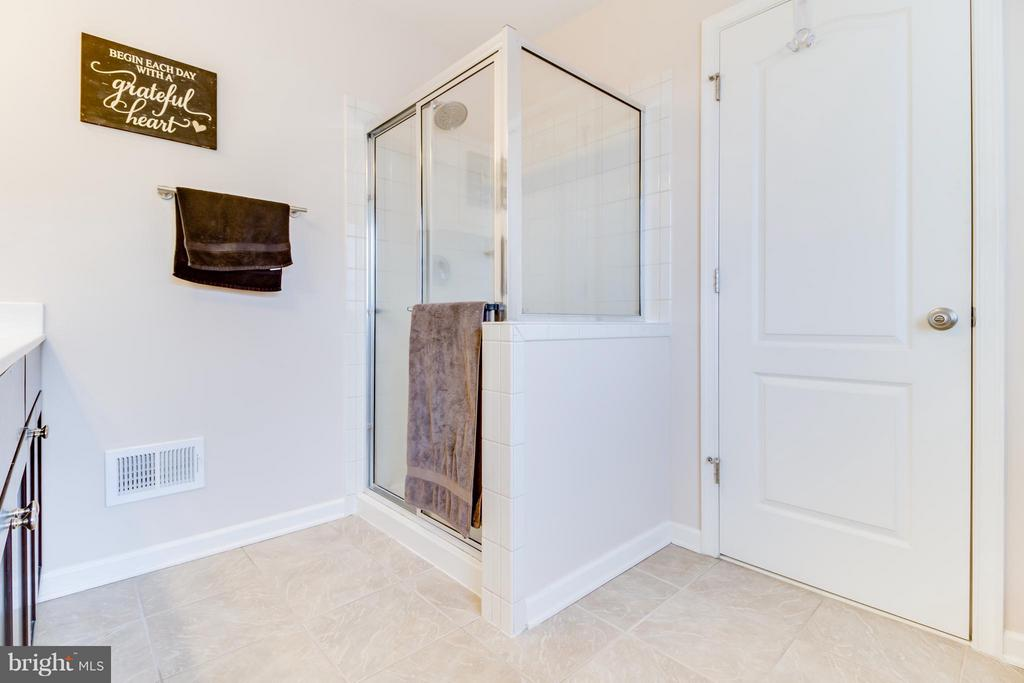 Separate Shower with Chrome Frame and Hardware - 103 DANDRIDGE CT, STAFFORD