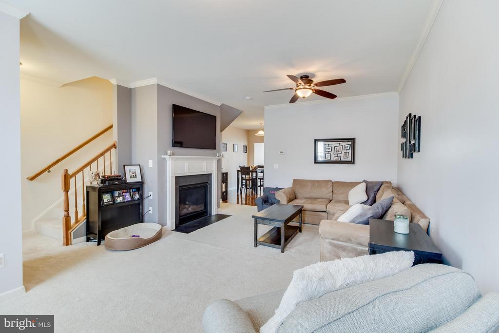 Family Room Featuring Gas Fireplace Insert - 103 DANDRIDGE CT, STAFFORD