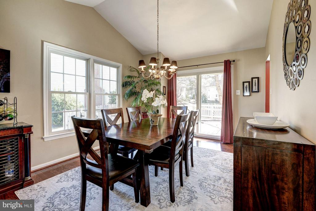 FORMAL DINING ROOM - HARDWOODS, LOTS OF SUNLIGHT! - 12418 WENDELL HOLMES RD, HERNDON