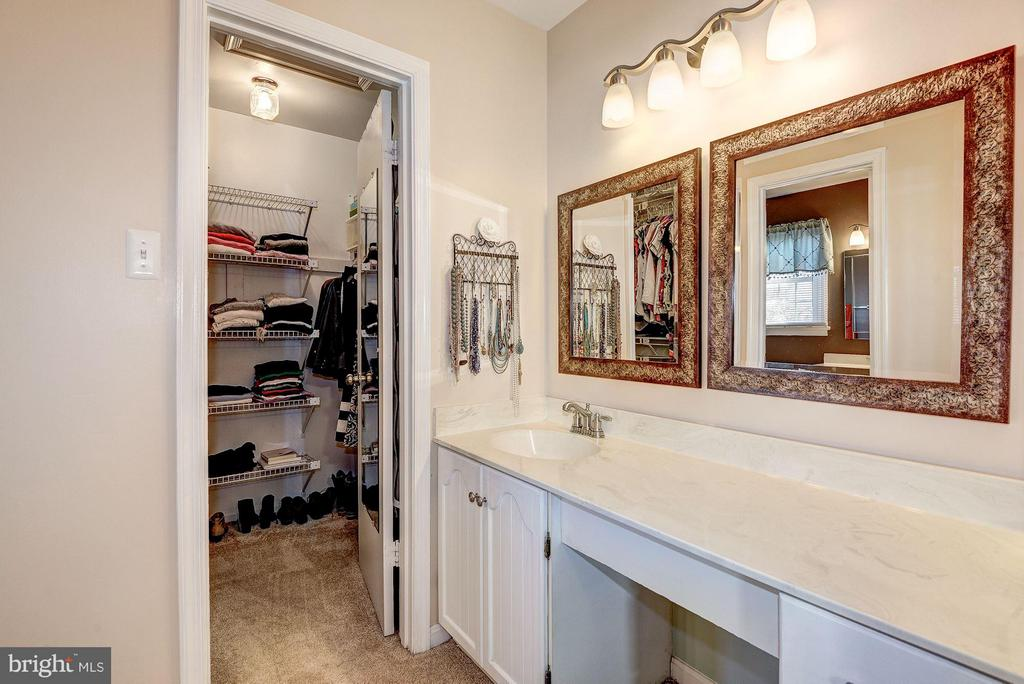 MASTER BATHROOM EXTENDED and WALK-IN CLOSET! - 12418 WENDELL HOLMES RD, HERNDON