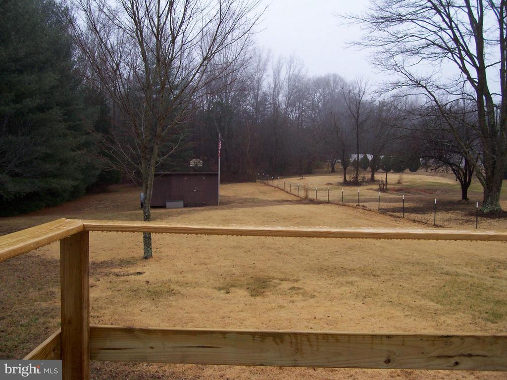 Back Yard as viewed from kitchen. - 330 CHAPEL GREEN RD, FREDERICKSBURG