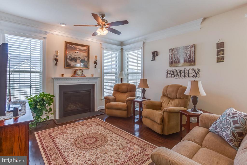Family Room w/ Gas Fireplace - 5819 E CARNIFEX FERRY RD, FREDERICKSBURG