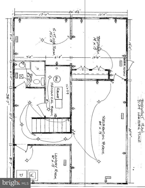 Optional Plan to add 1120 SqFt of living space - 9134 LEGHORN PL, FAIRFAX