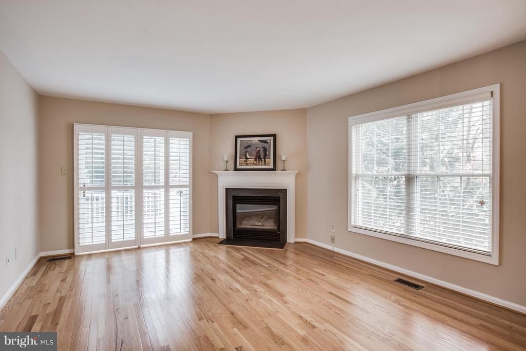 Family Room with sliding glass door to side porch - 9134 LEGHORN PL, FAIRFAX