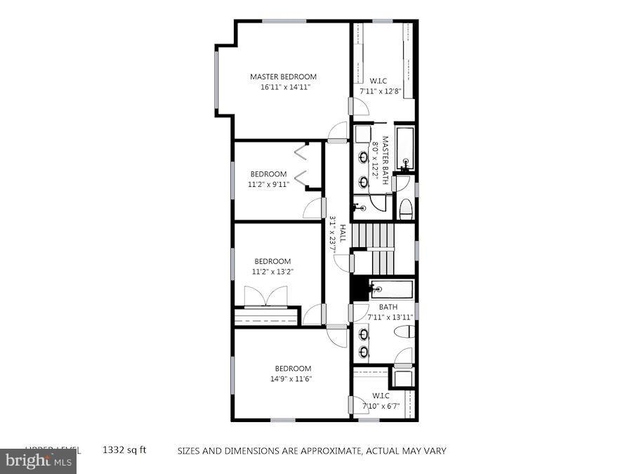 Upper Level Floor Plan - 232 CLEVELAND ST N, ARLINGTON