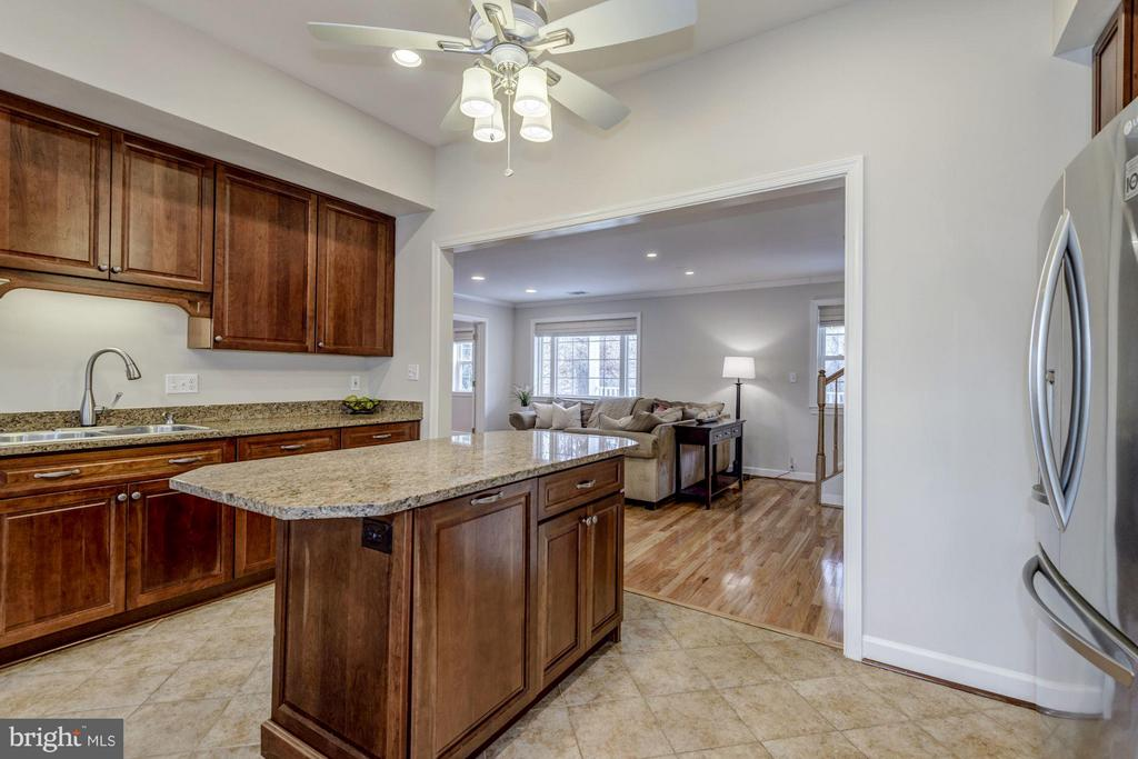 Kitchen features Recessed Lighting and Ceiling Fan - 7313 PINE DR, ANNANDALE