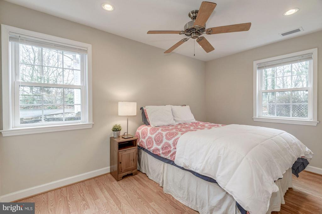 Second Bedroom with Lots of Sun and Hardwood Floor - 7313 PINE DR, ANNANDALE