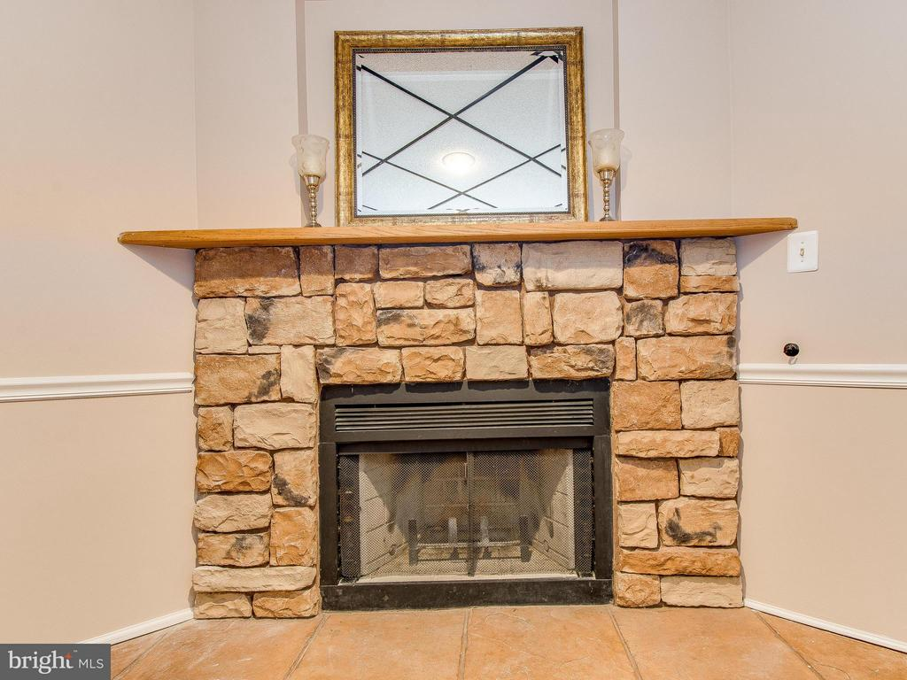 Wood Burning Fireplace in Basement - 6637 ROCKLEIGH WAY, ALEXANDRIA