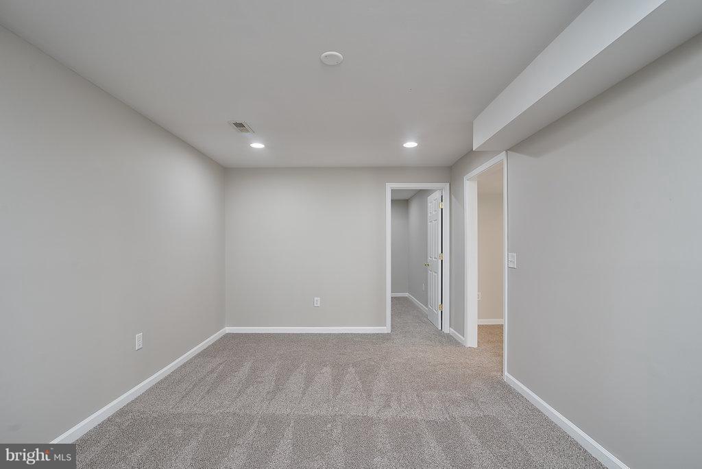 Rec. rm. with recessed lighting new carpet - 7 BURNINGBUSH CT, STAFFORD