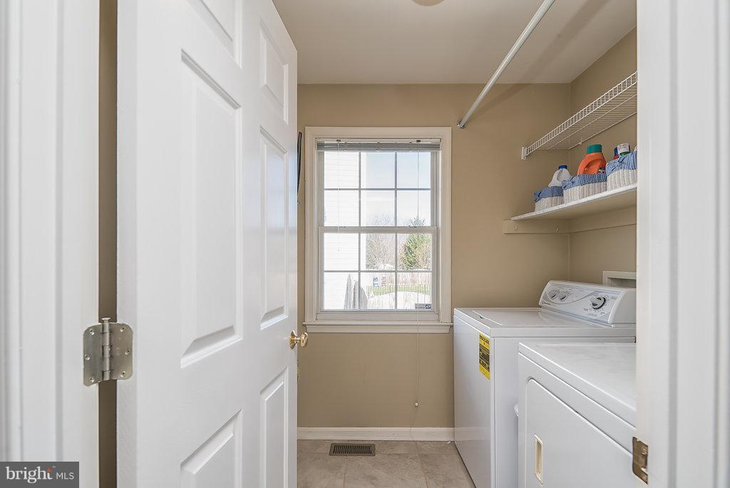 Main level laundry room w/washer (new) & dryer - 7 BURNINGBUSH CT, STAFFORD
