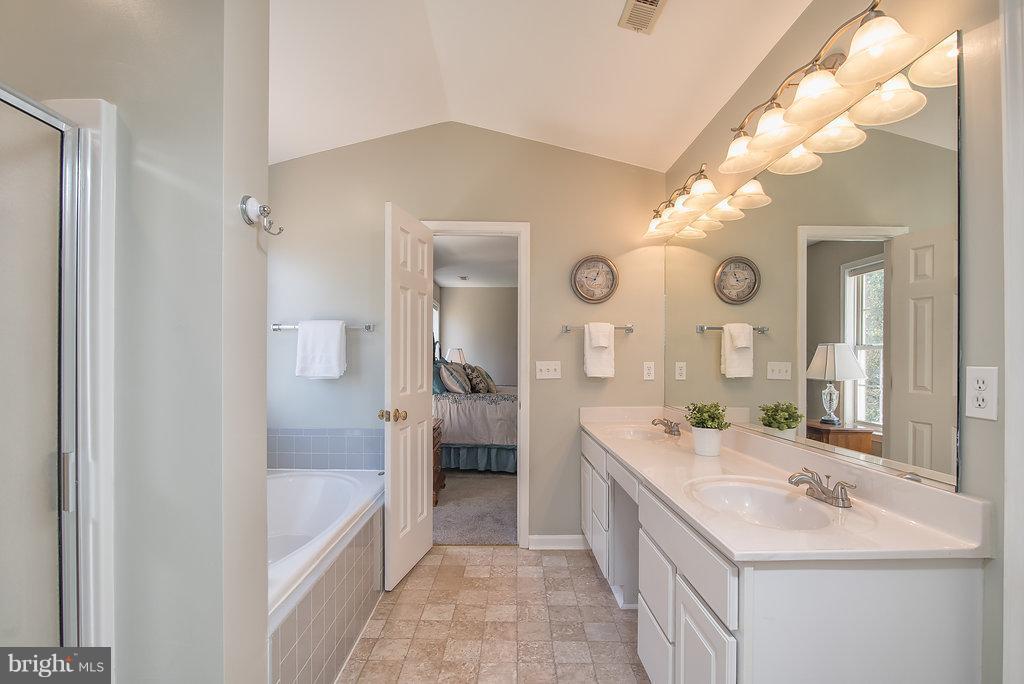 Large soaking tub, sep. shower and water closet. - 7 BURNINGBUSH CT, STAFFORD