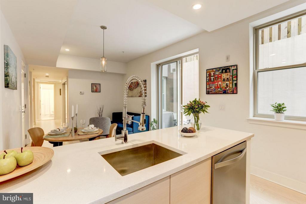 Kitchen with perfect surroundings... - 3606 ROCK CREEK CHURCH RD NW #101, WASHINGTON