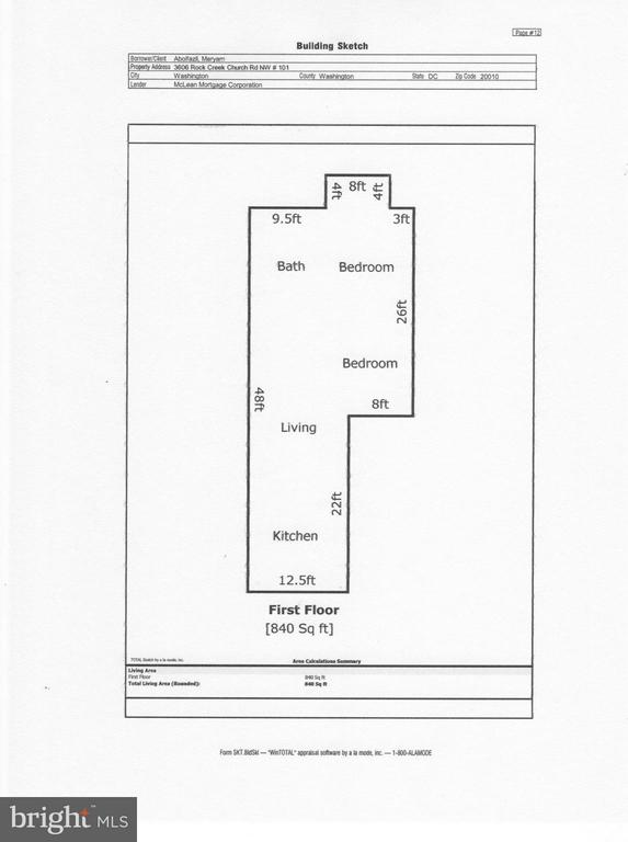 Floor Plan - 3606 ROCK CREEK CHURCH RD NW #101, WASHINGTON
