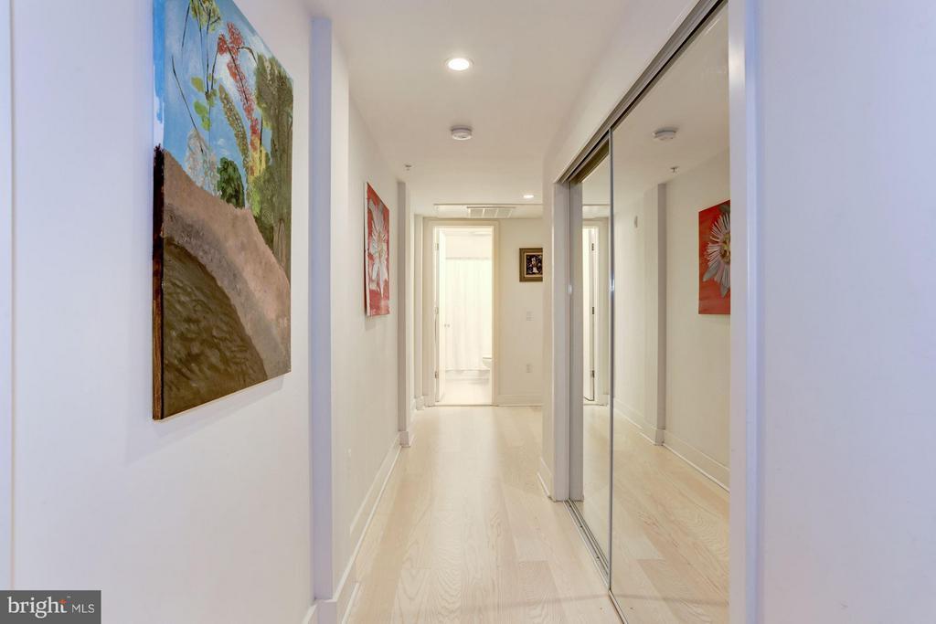 Hallway to Rooms. - 3606 ROCK CREEK CHURCH RD NW #101, WASHINGTON