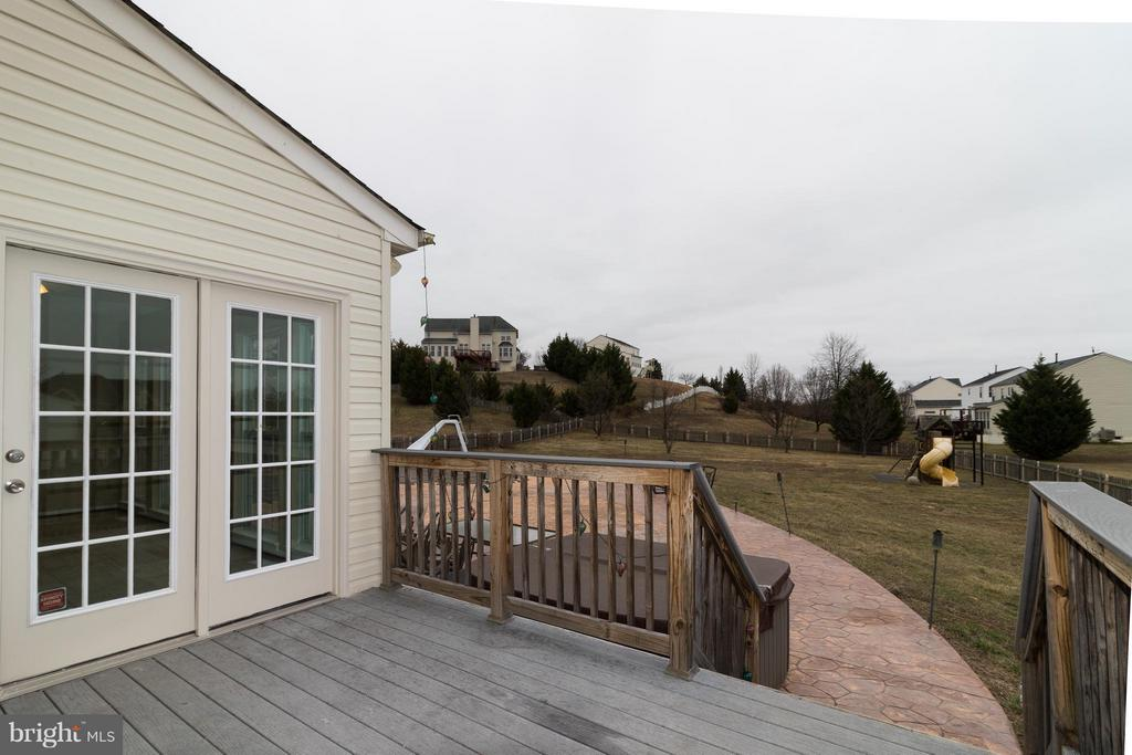 Deck off Sun room leads to Patio and Pool in Rear - 15529 WIGEON WAY, WOODBRIDGE