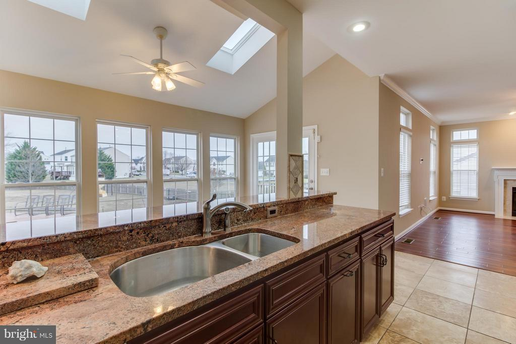 Kitchen with a View of Pool - 15529 WIGEON WAY, WOODBRIDGE