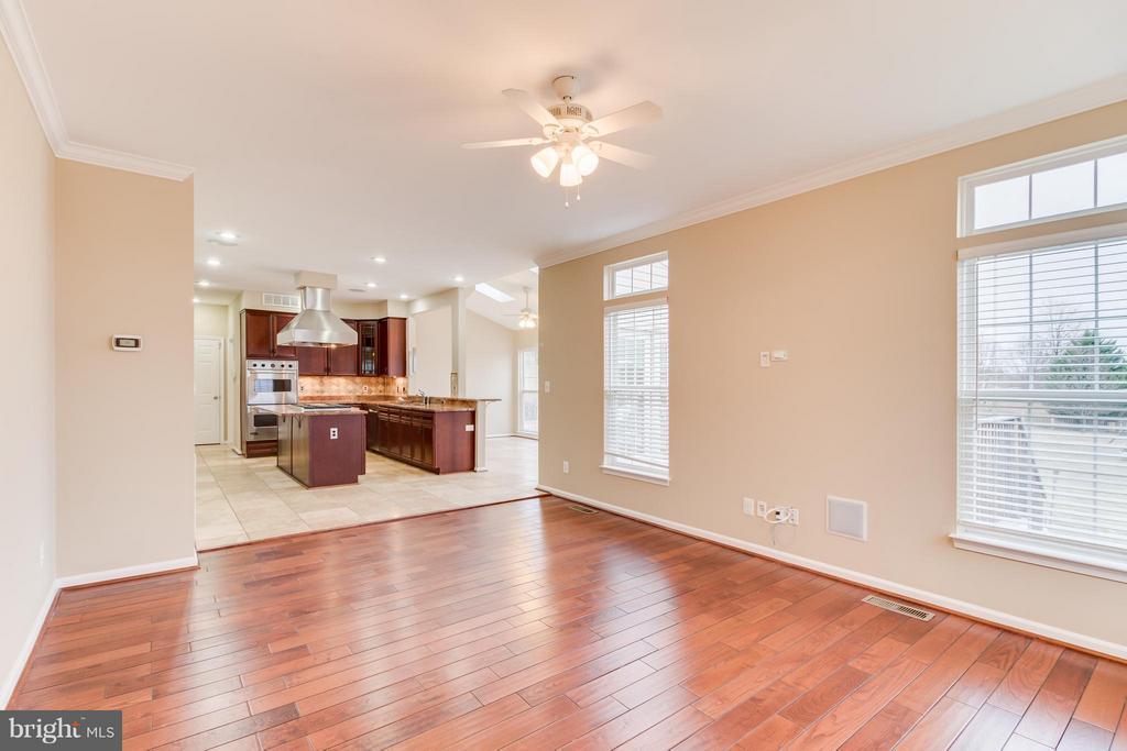 Family Room off Kitchen with Hardwood Flooring - 15529 WIGEON WAY, WOODBRIDGE
