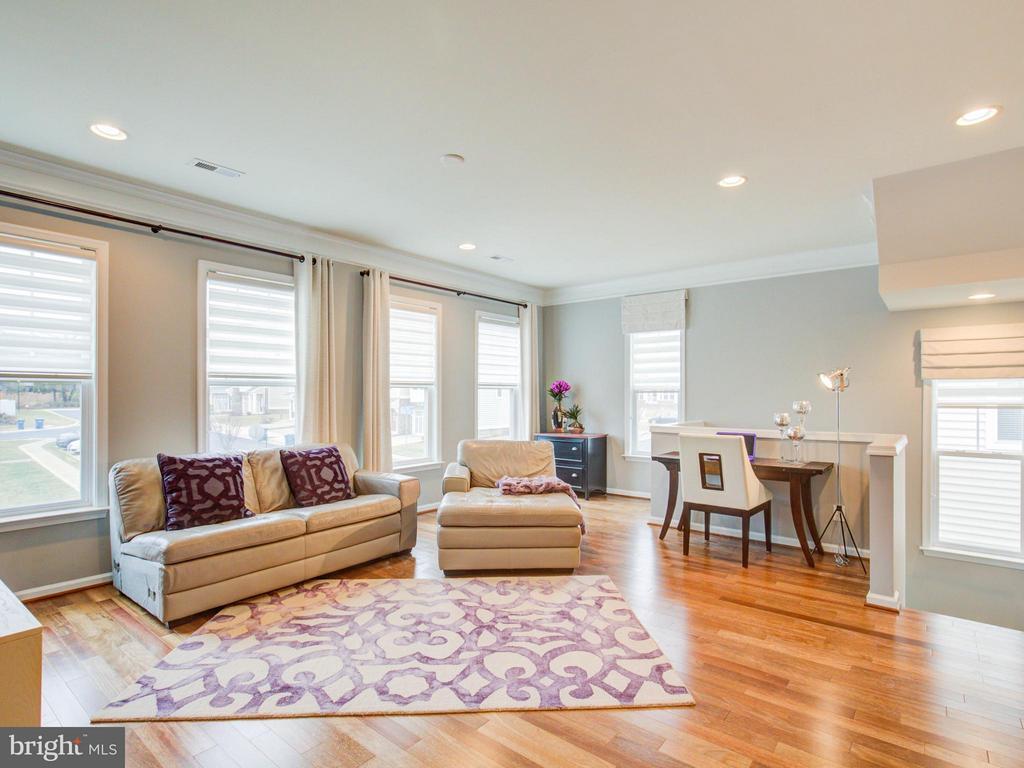 Family Room with hardwood flooring - 23572 BOCA FIELD TER, ASHBURN