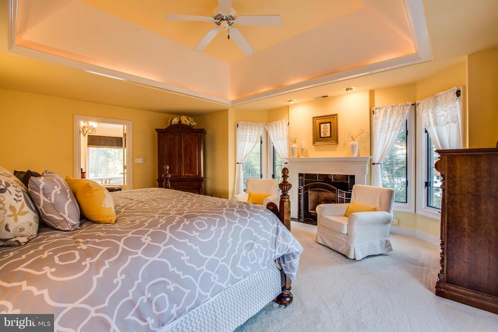 Master suite w/romantic gas fireplace and bays. - 12707 WILLOW POINT DR, FREDERICKSBURG