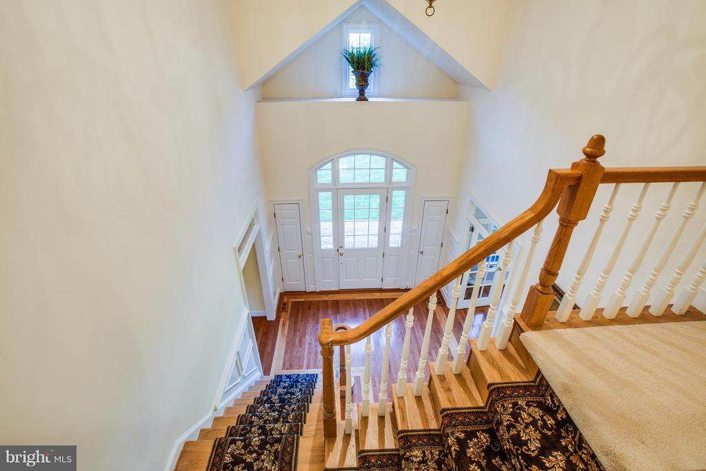 View of the foyer from 2nd floor - 12707 WILLOW POINT DR, FREDERICKSBURG