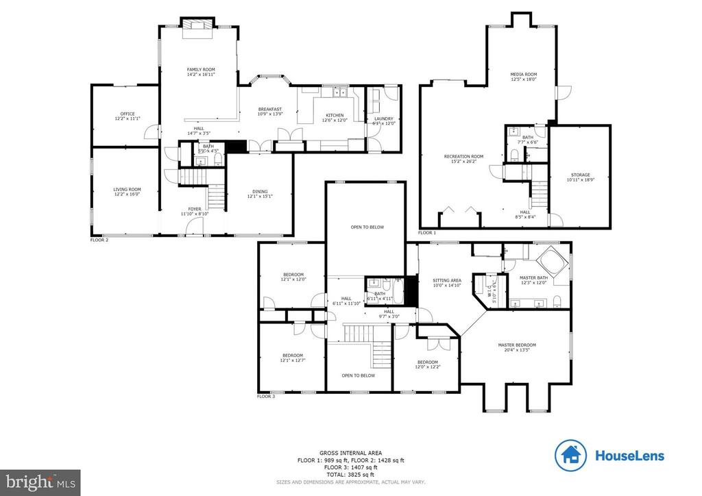 Floor Plan with Sq Ft. - 12106 COURTNEY CT, HERNDON