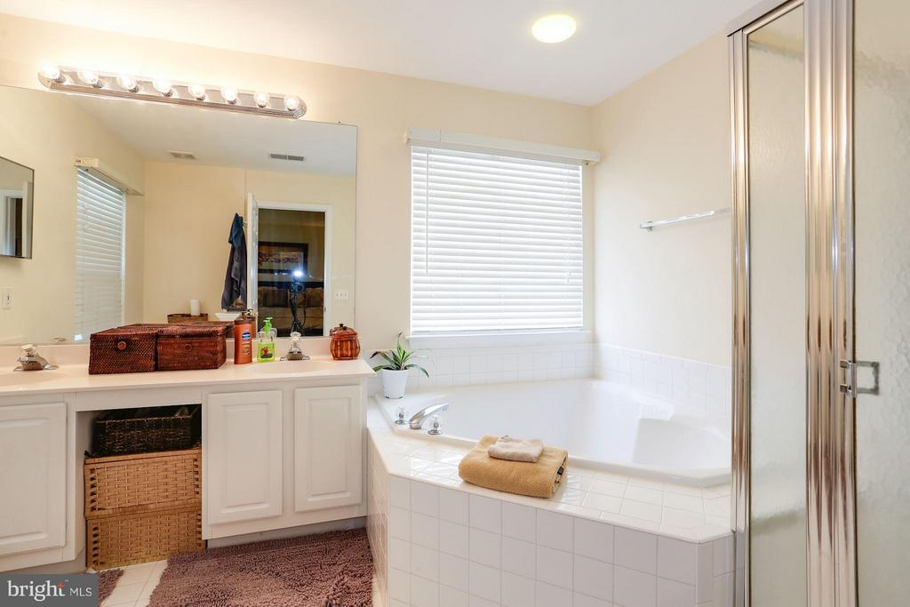 Master Bath with Soaking Tub & Full Shower - 7655 HENRY KNOX DR, LORTON