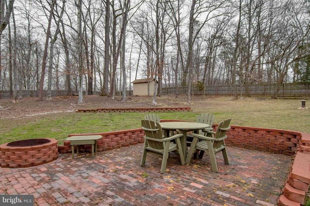Storage Shed and Brick Patio with Fire Pit - 11809 MOLAIR RD, MANASSAS