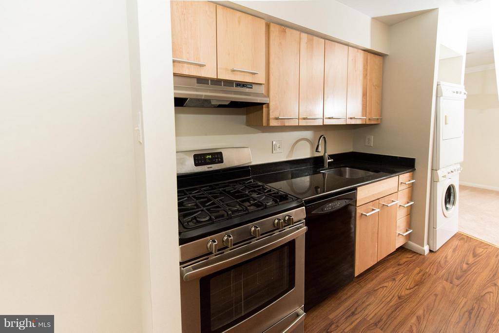 Modern Sleek Kitchen with gas cooking - 11252 CHESTNUT GROVE SQ #346, RESTON