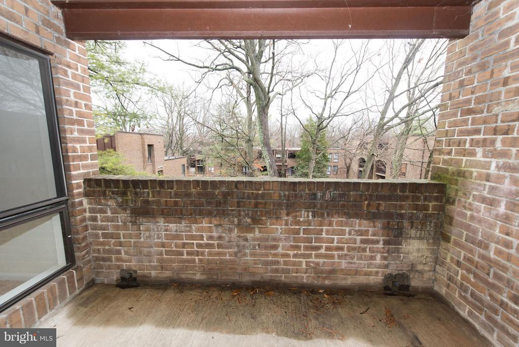 Large Back patio for an evening of relaxing - 11252 CHESTNUT GROVE SQ #346, RESTON