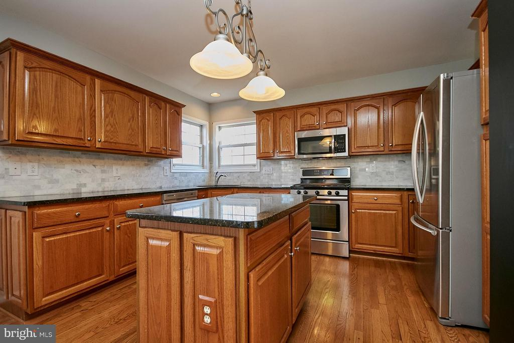 Center island and stainless steel appliances - 8397 CLEVELAND BAY CT, GAINESVILLE