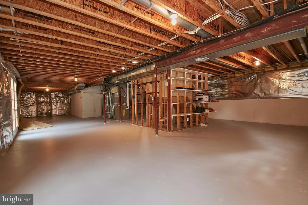 Huge walk out lower level for future expansion - 6726 HARTWOOD LN, CENTREVILLE