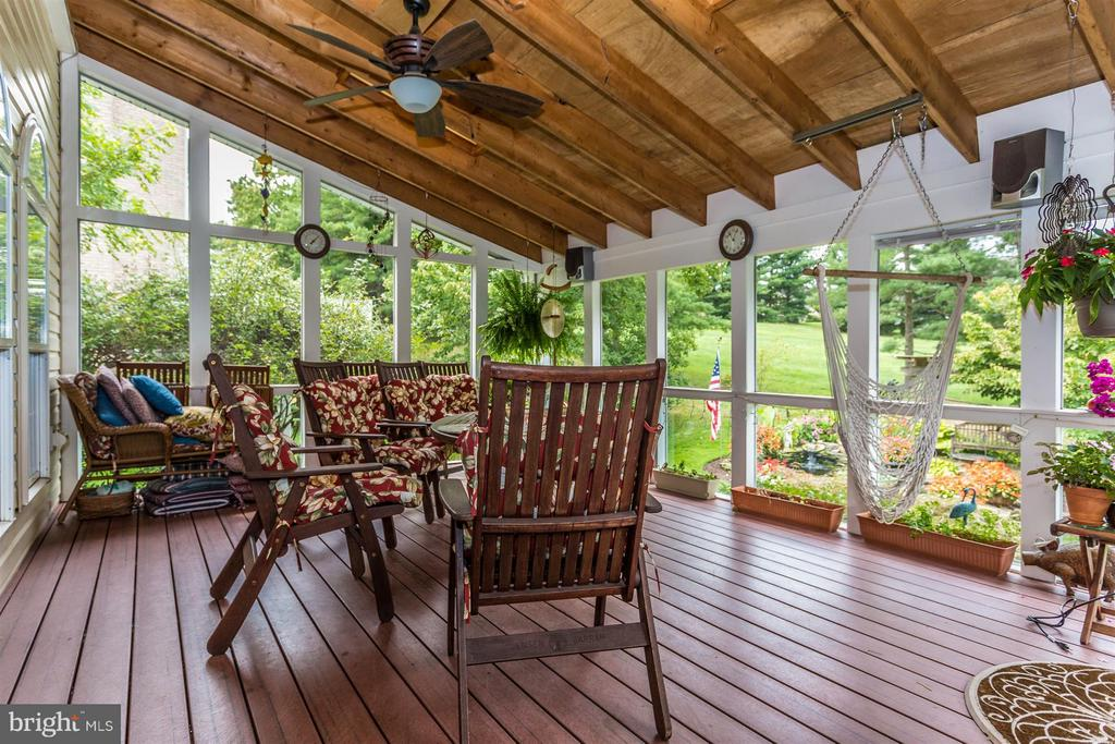 Screened in porch with ceiling fan and sky light. - 11317 SANANDREW DR, NEW MARKET