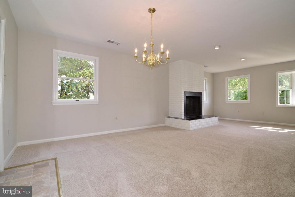 Dining Room/ living room)/ fireplace - 1907 WARE RD, FALLS CHURCH