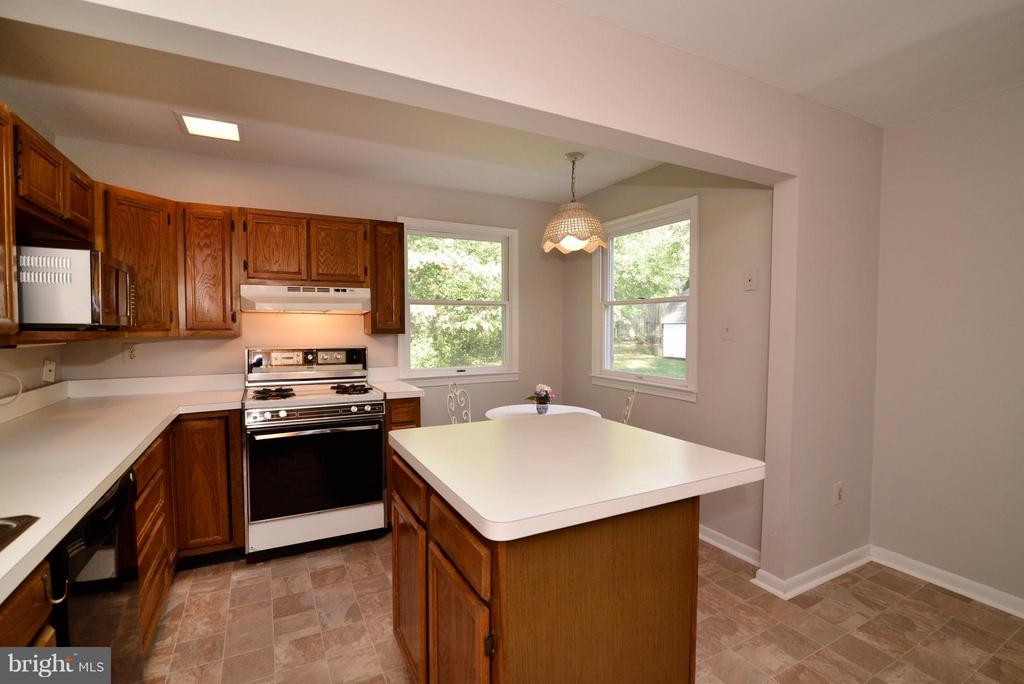 plenty of space to move around in this kitchen - 1907 WARE RD, FALLS CHURCH