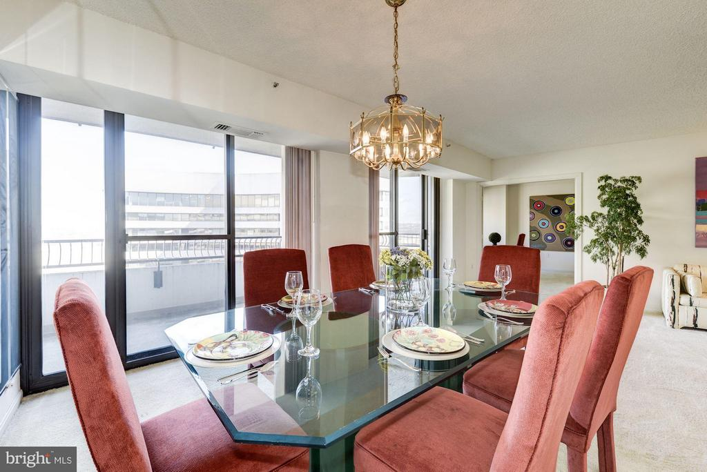 Enjoy awesome views while dining. - 1300 CRYSTAL DR #1610S, ARLINGTON