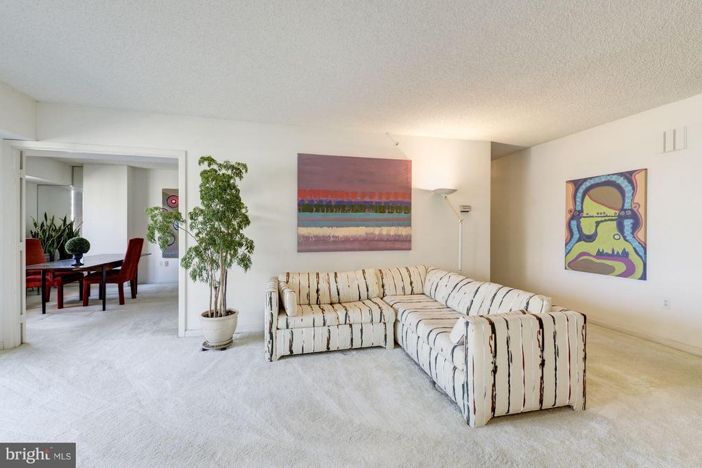 Living Room - 1300 CRYSTAL DR #1610S, ARLINGTON