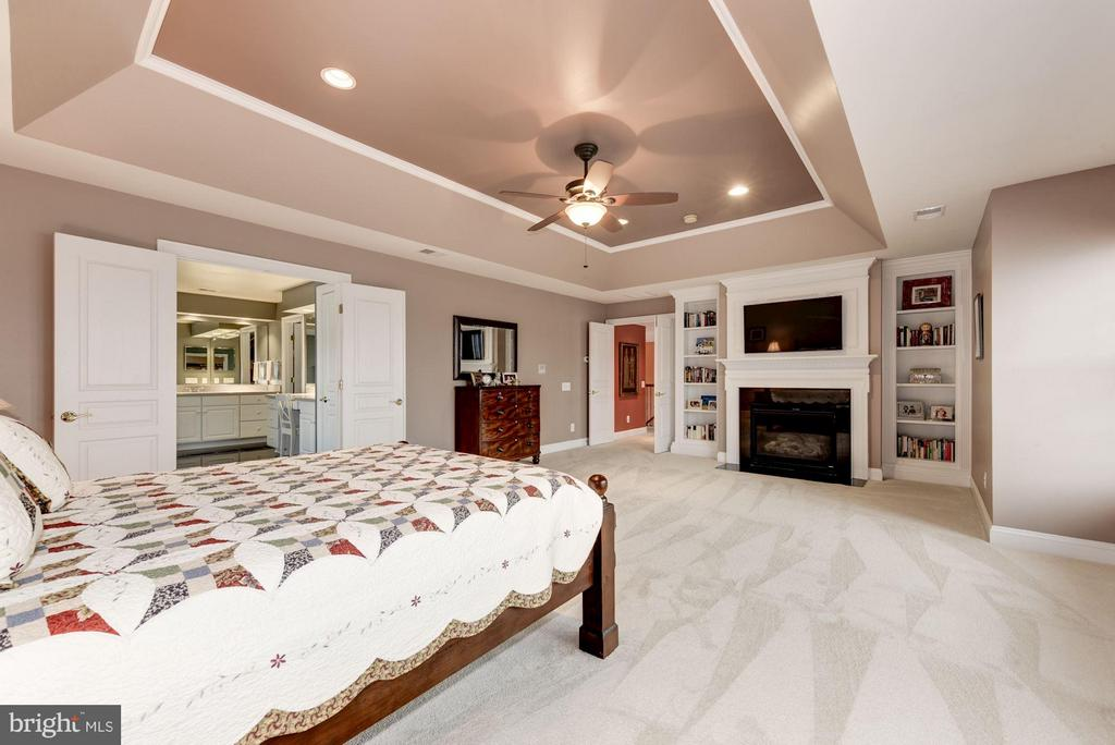 Generously sized Master Bedroom with Gas Fireplace - 8928 RHODODENDRON CIR, LORTON