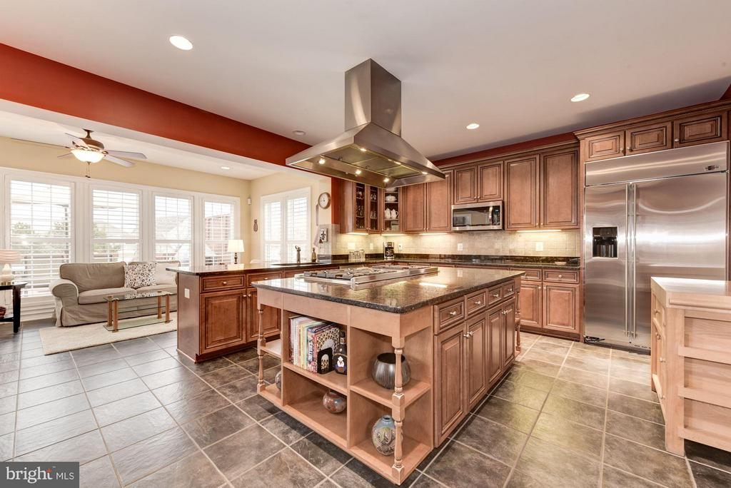 Enormous Kitchen with Top End Stainless Appliances - 8928 RHODODENDRON CIR, LORTON