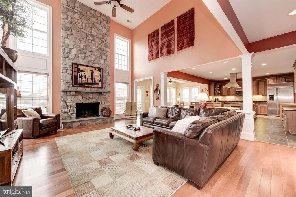 Stunning 2-Story Family Room with Stone Fireplace - 8928 RHODODENDRON CIR, LORTON