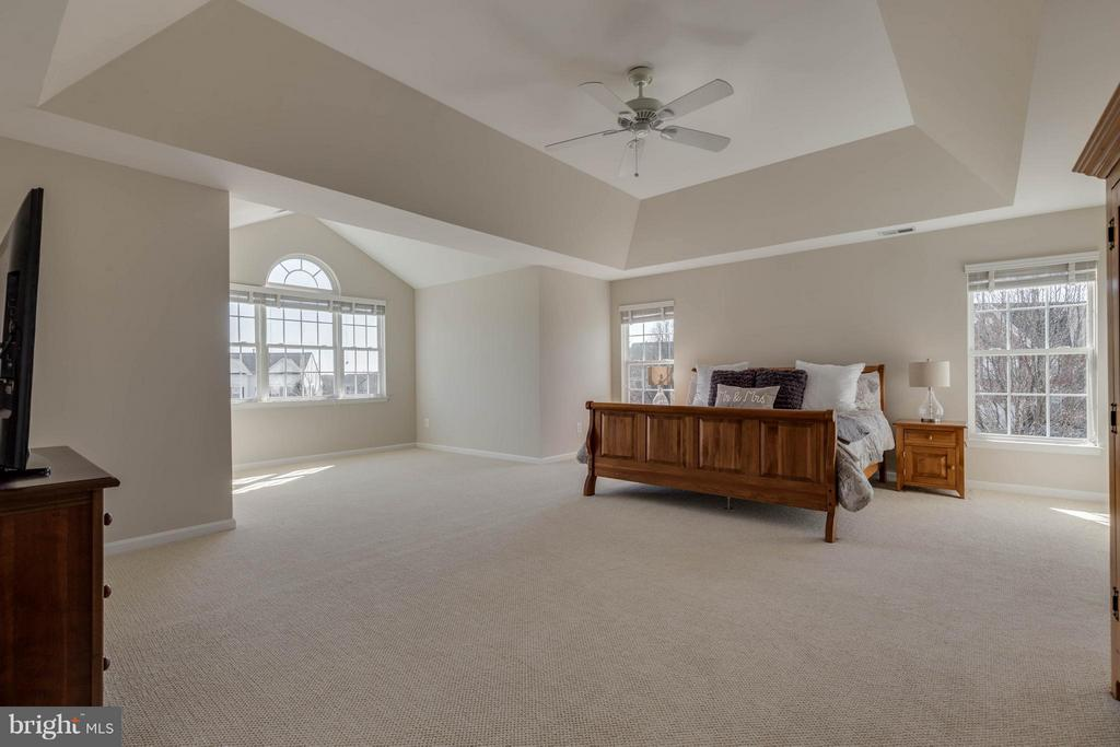 Master Bedroom with sitting area - 43008 BATTERY POINT PL, LEESBURG