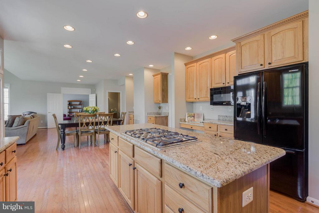 Kitchen with granite counters and hardwood floors - 43008 BATTERY POINT PL, LEESBURG