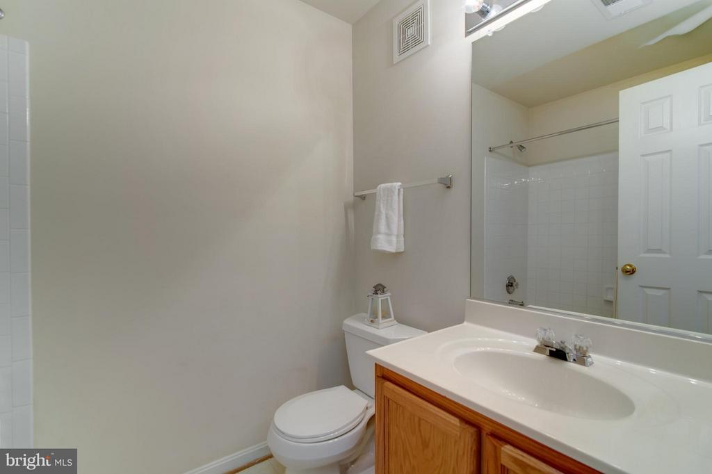 Great hall bath with tub and shower - 9886 SOUNDING SHORE LN, BRISTOW